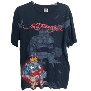 Ed hardy studded t shirt